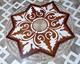 Tafelparkett, Intarsien Parkett Medaillon 10, Star Blume