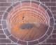 Tafelparkett, Intarsien Parkett Medaillon 11, Brunnen