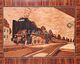marquetry picture -Steam engine 424