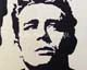 wood inlay art -James Dean