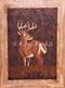 wood inlay art -Miracle making deer