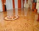 wood inlay floor 07, Star 2 (oak, mahogany, alder)