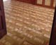 wood inlay floor 42, Gerda (oak, walnut, ash), Szombathely, Bishop's Office