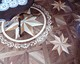 wood inlay floor medallion 06, Star