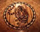 wood inlay floor medallion 15, Tiger