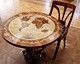 wood inlay table, Globe