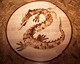 médaillon, rosace de parquet en marqueterie 02, Dragon chinois