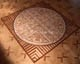 médaillon, rosace de parquet en marqueterie 14, Medici