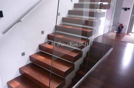 fa lépcső, lebegő, amerikai dió
