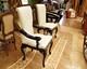 ülőgarnitúra bútor 20, faragott bőr étkező szék, fekete-fehér