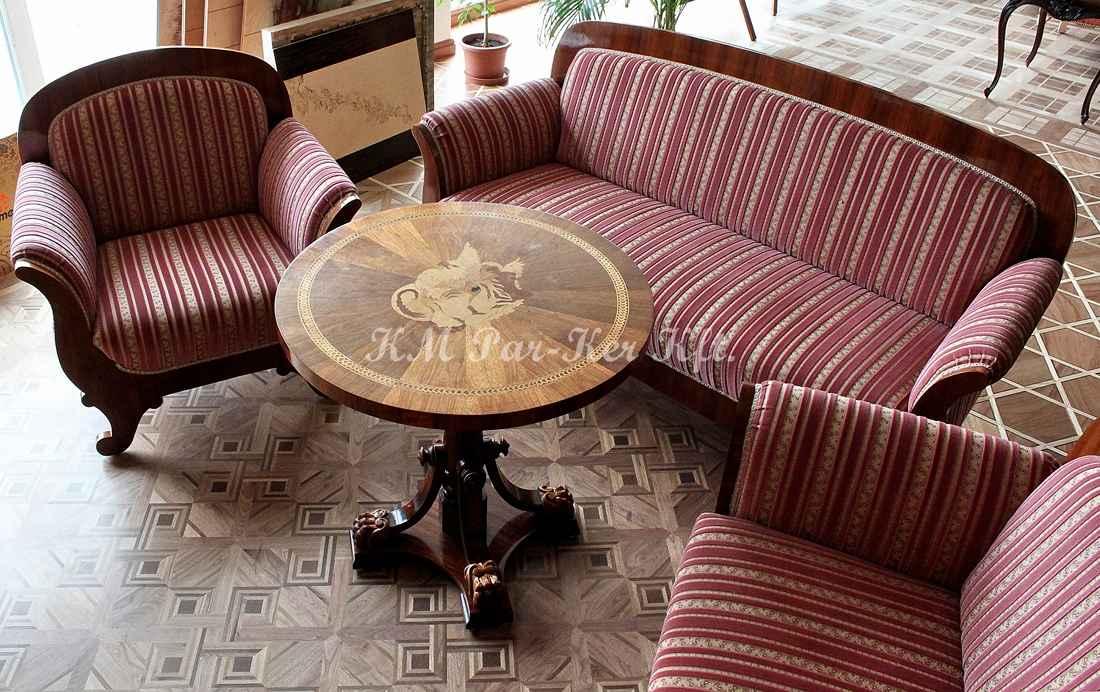 ülőgarnitúra bútor 02, Biedermeier kanapé
