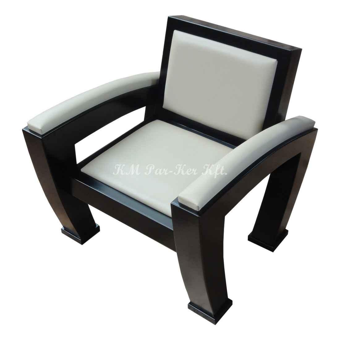 ülőgarnitúra bútor 03, modern fotel, fekete-fehér