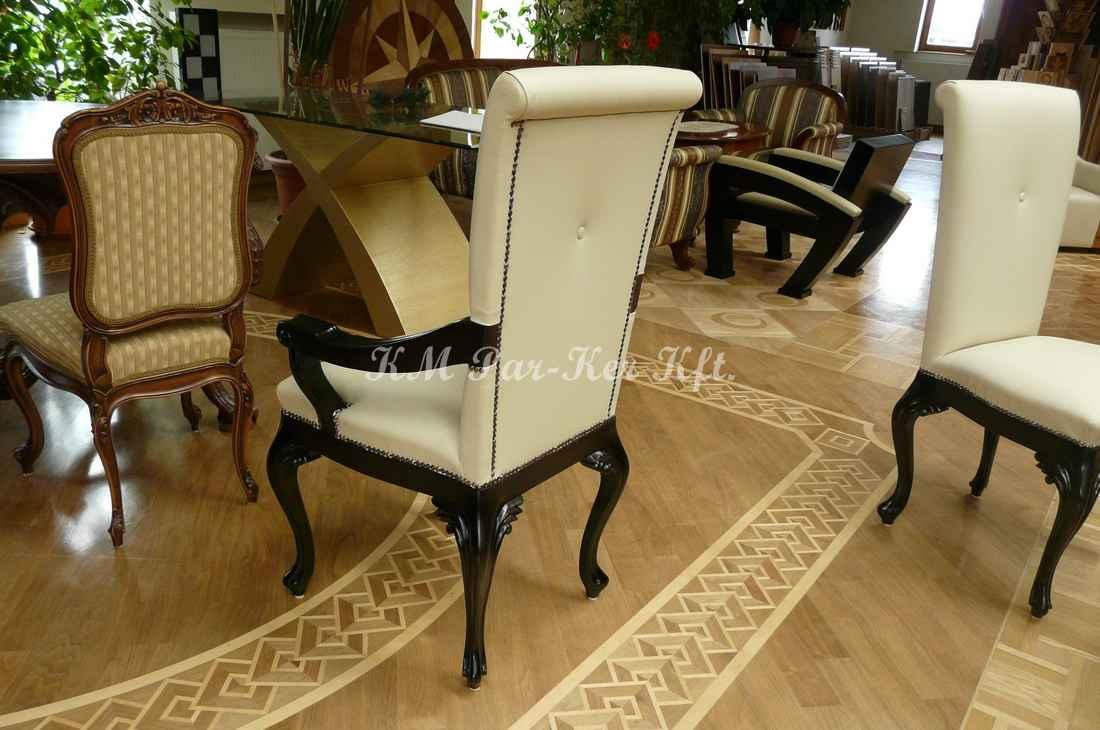 ülőgarnitúra bútor 21, faragott bőr étkező szék