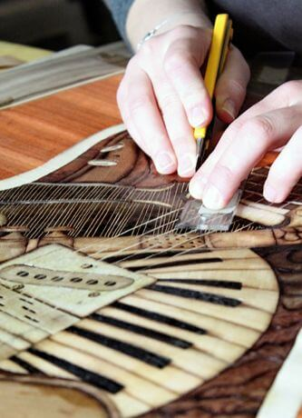 make wood inlay art
