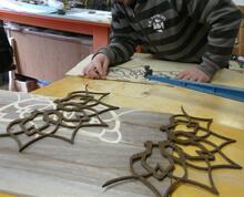 making wood inlay floor