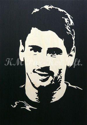 intarzia kép -Lionel Messi