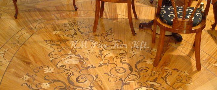 intarzia parketta -fából minta