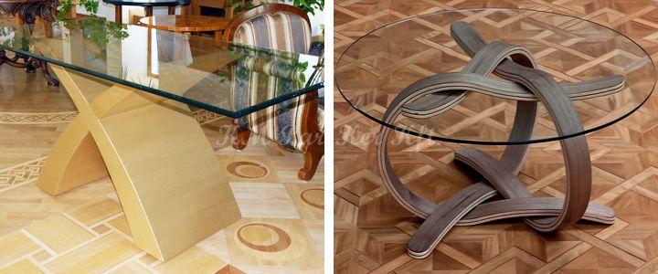egyedi bútor X lábú arany asztal, fonott lábú dohányzóasztal