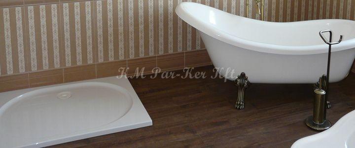 parketta fürdőszobába