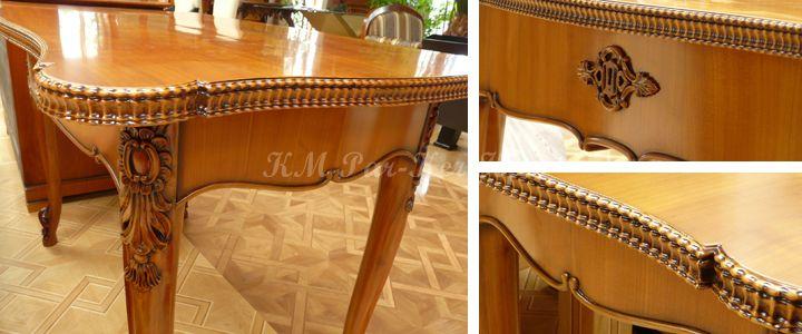 antik bútor restaurálás, asztal