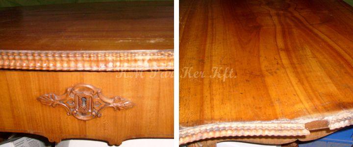 antik bútor restaurálás, asztal, régi
