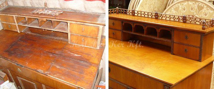 antik bútor restaurálás, komód