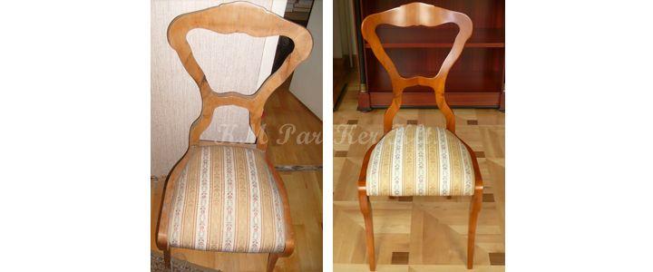 antik bútor restaurálás, szék