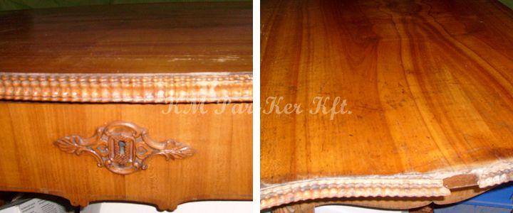 antik bútor restaurálás, felújítás -régi