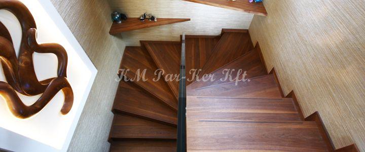 fa lépcső csúszásgátlóval